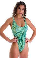 One Piece Thong inJade Marble 1