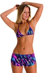 SusieQ Split Short Beach Cover-Up in Gravity Waves 1