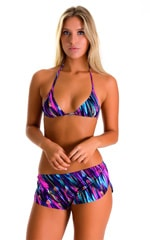 SusieQ Split Short Beach Cover-Up in Gravity Waves 3
