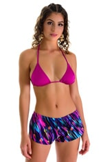 SusieQ Split Short Beach Cover-Up in Gravity Waves 4