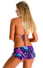 SusieQ Split Short Beach Cover-Up in Gravity Waves 2
