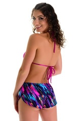 SusieQ Split Short Beach Cover-Up in Gravity Waves 5