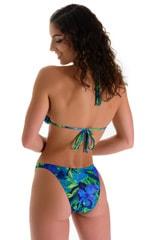 High Cut Brazilian Swim Suit bottom in Tan Through Tahitian Lime-Aqua 2