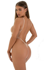 One Piece Thong Swimsuit in Super ThinSKINZ Nude 3
