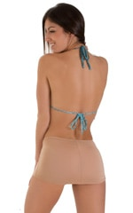 Micro Mini Skirt in Super ThinSKINZ Nude 3
