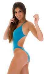 One Piece Swimsuit  Criss Cross Rio in ThinSKINZ Sapphire 4