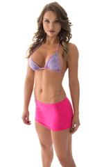 Micro Mini Skirt in ThinSkinz Neon Hot Pink 4