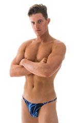Super Low Brazilian Bikini in Blue Lightning - PEP Lining 4
