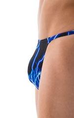 Super Low Brazilian Bikini in Blue Lightning - PEP Lining 5