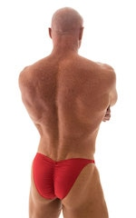 Fitted Pouch - Puckered Back - Posing Suit in Lipstick Red 3