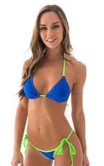 Classic Triangle Top in Royal Blue and Lime 1