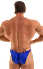 Fitted Pouch - Puckered Back - Posing Suit in Wet Look Royal Blue 3