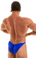 Posing Suit - Fitted Pouch - Puckered Back in Wet Look Royal Blue 5