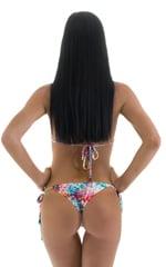 Womens Side Tie Scrunch Bottom in Tan Through Retro Tie Dye 4
