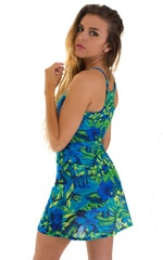 Cover Up Mini Dress in Tan Through Rainforest 3