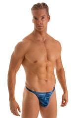 T Back Thong Swimsuit in Super ThinSKINZ Denim Pockets 1
