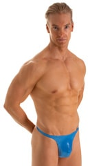 T Back Thong Swimsuit in Ice Karma Electric Blue 1