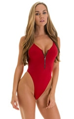 One Piece Zipper in ThinSKINZ Red 1