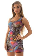Micro Mini Dress in Mesh Aquarious 1