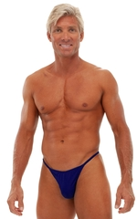 Fitted Pouch - Puckered Half Back - Swimsuit in Semi Sheer ThinSKINZ Blue 1