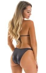 High Cut Brazilian Bikini bottom in Pumpkin  2