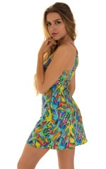 Cover Up Mini Dress in Super ThinSkinz Quill 4