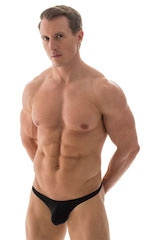 Fitted Pouch Puckered Back Bikini in ThinSKINZ Black 1