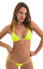 Micro G String Side Tie Bikini Bottom in ThinSKINZ Chartreuse 4