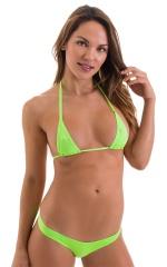 Micro Booty Thong Bikini in ThinSkinz Neon Lime 4