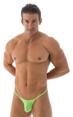 Stuffit Pouch G String Swimsuit in ThinSKINZ Neon Lime 1