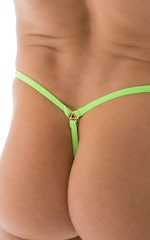 Stuffit Pouch G String Swimsuit in ThinSKINZ Neon Lime 5