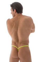 Stuffit Pouch G String Swimsuit in ThinSKINZ Chartreuse 3