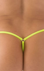 Stuffit Pouch G String Swimsuit in ThinSKINZ Chartreuse 5