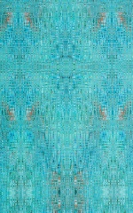 Super Low Brazilian Bikini in Super ThinSKINZ Seafoam Circuits Fabric
