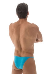 Adjustable to Micro Pouch Tanning Bikini in ThinSKINZ Sapphire 3