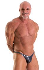 Bodybuilder Posing Suit - Narrow Back in Nero Ice Karma 1