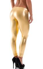 Womens Super Low Rise Leggings in Liquid Gold 4