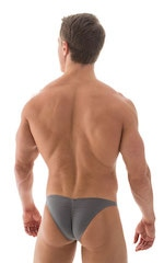 Fitted Pouch Puckered Back Bikini in ThinSKINZ Metal Gray 3