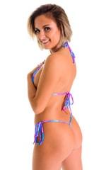 Teardrop Bikini Top in Tahitian Magenta-Aqua 2