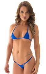 Mini Micro G String Bikini in Royal Blue 1