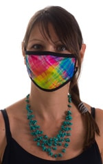 Diagonal Plaid-Black 2-ply face mask 1