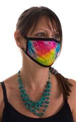Diagonal Plaid-Black 2-ply face mask 2