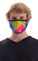 Diagonal Plaid-Black 2-ply face mask 4