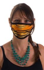Golden Kat-Black 2-ply face mask 1