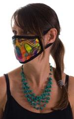 Neon Dali-Black 2-ply face mask 3