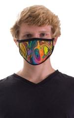 Neon Dali-Black 2-ply face mask 4
