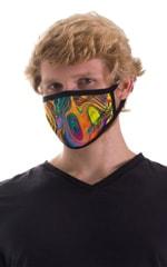 Neon Dali-Black 2-ply face mask 5