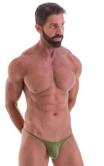 Stuffit Pouch Half Back Tanning Swimsuit in ThinSKINZ Sage 1