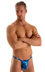 4-Way Adjustable Bikini-Tanga-Micro in Super ThinSKINZ Denim Patches 3