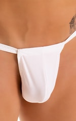 4-Way Adjustable Bikini-Tanga-Micro in Super ThinSKINZ White 5